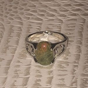 Natural Stone Silver Ring